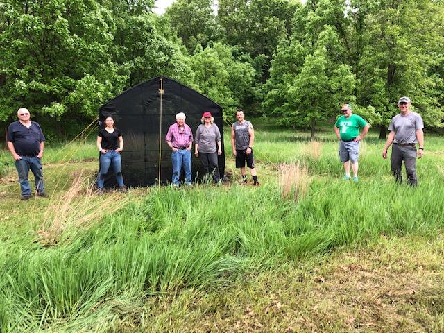 Bio Tent Setup -- May 29th, 2020. Ikes